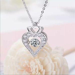 Zirconia & Silver Necklace 10350